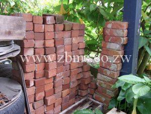 excess and left over building materials bricks