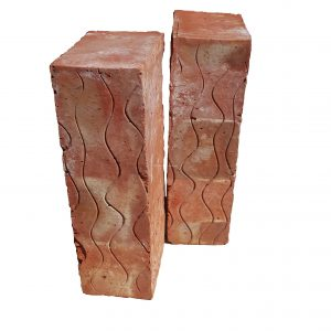 smooth face bricks stripped