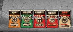 PPC Cement types in harare zimbabwe for sale