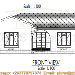 Blueprint samples archives zimbabwe building materials suppliers 3 bedroomed cottage house plan with kitchen lounge sitting room verandah passage malvernweather Image collections