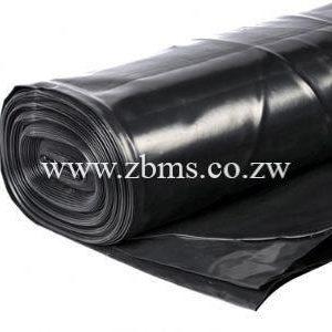 250micron by 100m by 2.4m black polythene plastic sheet for sale Zimbabwe